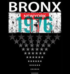 Bronx new york sport typography t-shirt graphics vector