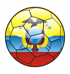 Ecuador flag on soccer ball vector
