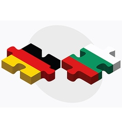 Germany and Bulgaria Flags in puzzle vector image