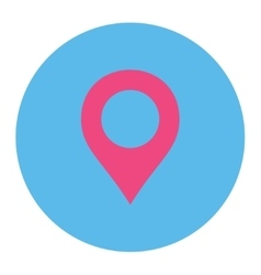 Map marker flat pink and blue colors round button vector