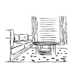 Interior sketch design vector