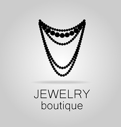 Jewelry boutique template vector