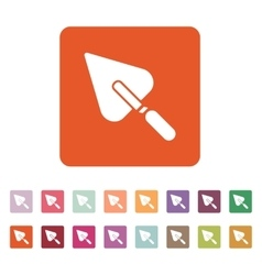 The trowel icon mason and building repair vector