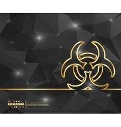 Creative bio hazard art vector