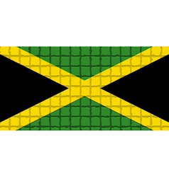 The mosaic flag of Jamaica vector image