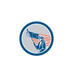 American Patriot Soldier Flag Circle Retro vector image