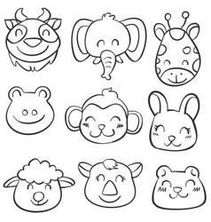 Art animal hand draw doodles vector