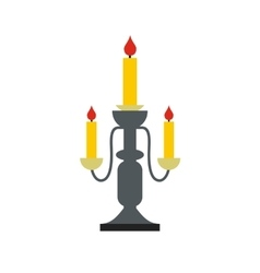 Candlestick lamp flat icon vector