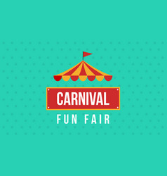 Carnival fun fair theme design vector