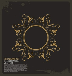 Circle vintage ornament logo vector image vector image