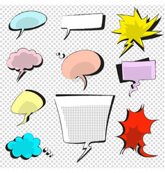 comic icons speech bubble vector image vector image