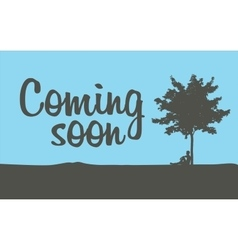 Comming soon temporary banner vector