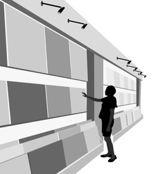 Decor and shopping mall vector