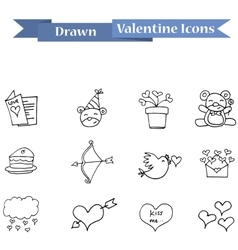 Element valentine day with hand draw vector