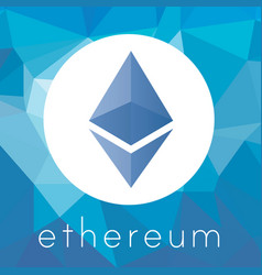 Ethereum cripto currency logo vector