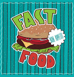 food poster with fast food vector image vector image