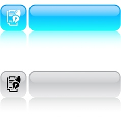 Form and pen square button vector image