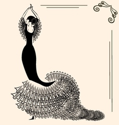image of flamenco vector image vector image