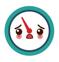 Kawaii tachometer speedometer and indicator vector