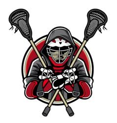 Lacrosse mascot vector