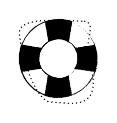 life buoy safety travel sketch vector image vector image