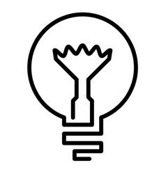 Light bulb icon outline style vector