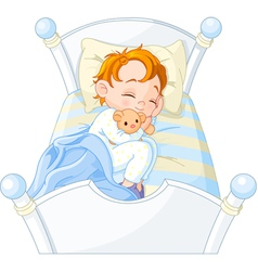 little boy sleeping vector image