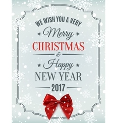 Merry christmas and happy new year 2017 card vector