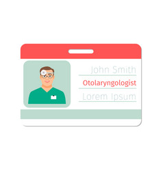 otolaryngologist medical specialist badge vector image