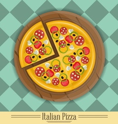 Pizza plate vector