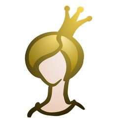princess beauty queen vector image