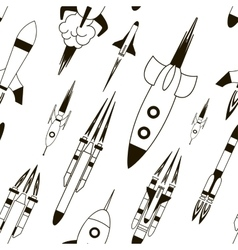 Set of rockets pattern vector