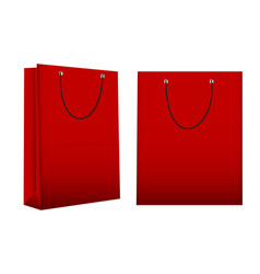 Shopping bag template for advertising and branding vector