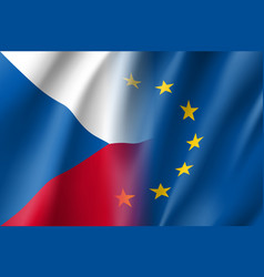 Symbol czech republic is eu member vector