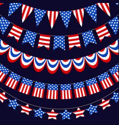 Usa flag warp ribbons vector