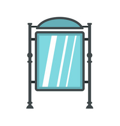 advertising sign icon flat style vector image