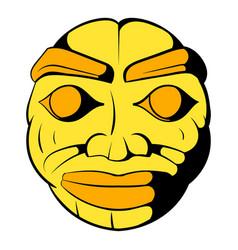 stone face icon cartoon vector image
