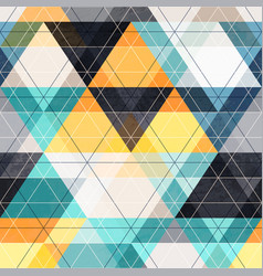 Fabric triangle seamless pattern vector