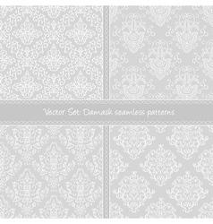Damask floral textile pattern vector