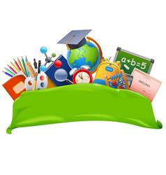 school banner vector image