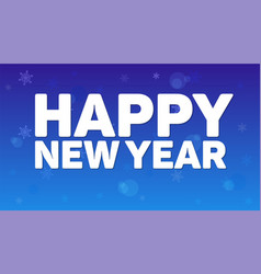 Happy new year greeting horizontal poster on night vector