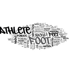 What to do to cure athletes foot text word cloud vector