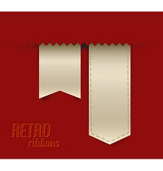 Collection of retro ribbons and tags vector image