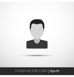 Social networks private users avatar pictogram vector