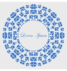 Blue round pattern with copy space vector