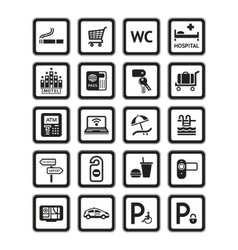 hotel services vector image