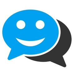 Happy chat icon vector