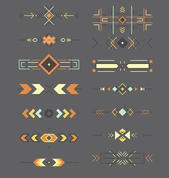 Aztec borders vector