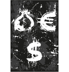 Bag dollar euro vector image