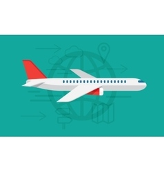 Flying airplane sign vector